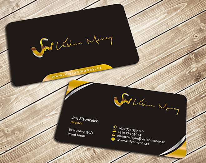 Business Card Design by Private User - Entry No. 27 in the Business Card Design Contest Captivating Business Card Design for VISION MONEY.