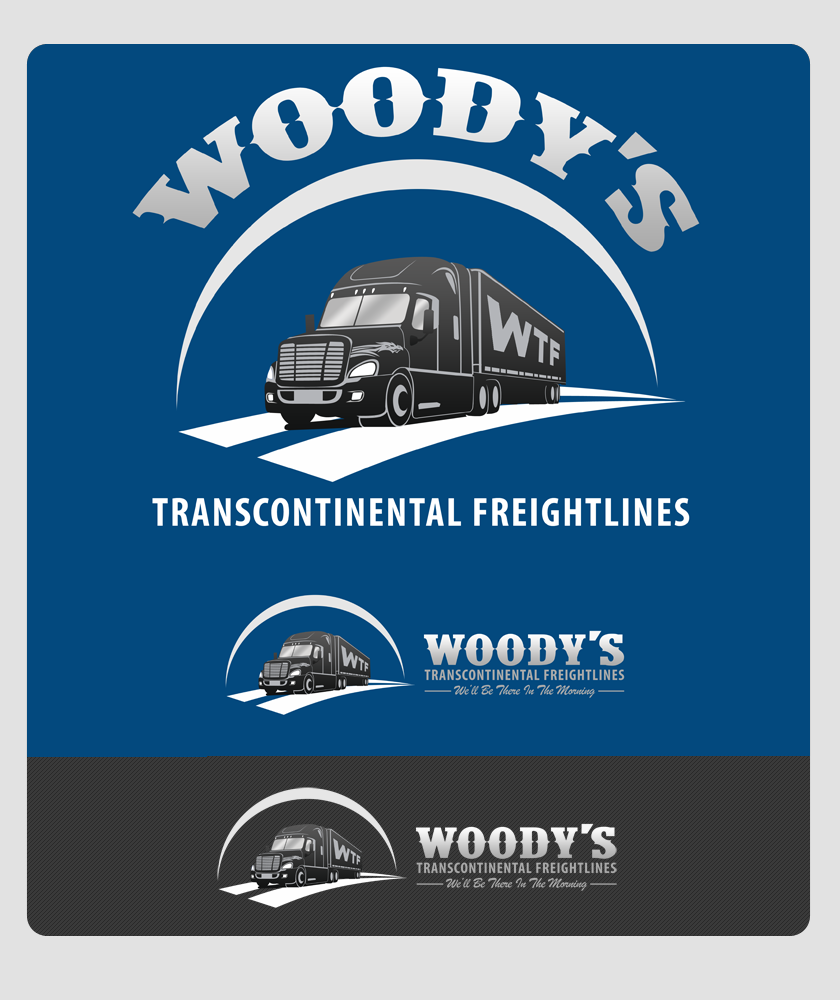 Logo Design by Private User - Entry No. 81 in the Logo Design Contest Creative Logo Design for Woody's Transcontinental Freightlines.