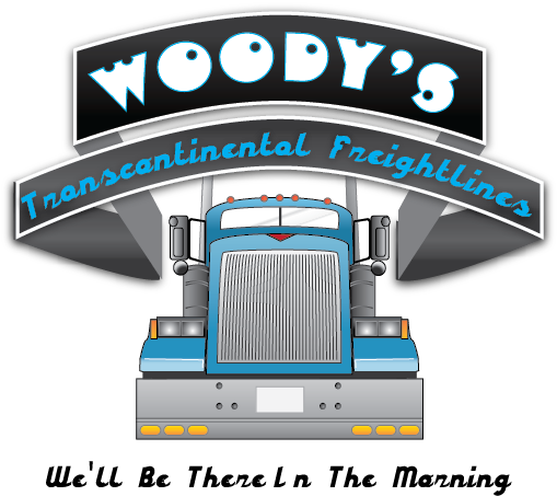 Logo Design by Chris Cowan - Entry No. 84 in the Logo Design Contest Creative Logo Design for Woody's Transcontinental Freightlines.