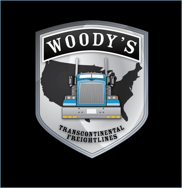 Logo Design by Chris Cowan - Entry No. 85 in the Logo Design Contest Creative Logo Design for Woody's Transcontinental Freightlines.