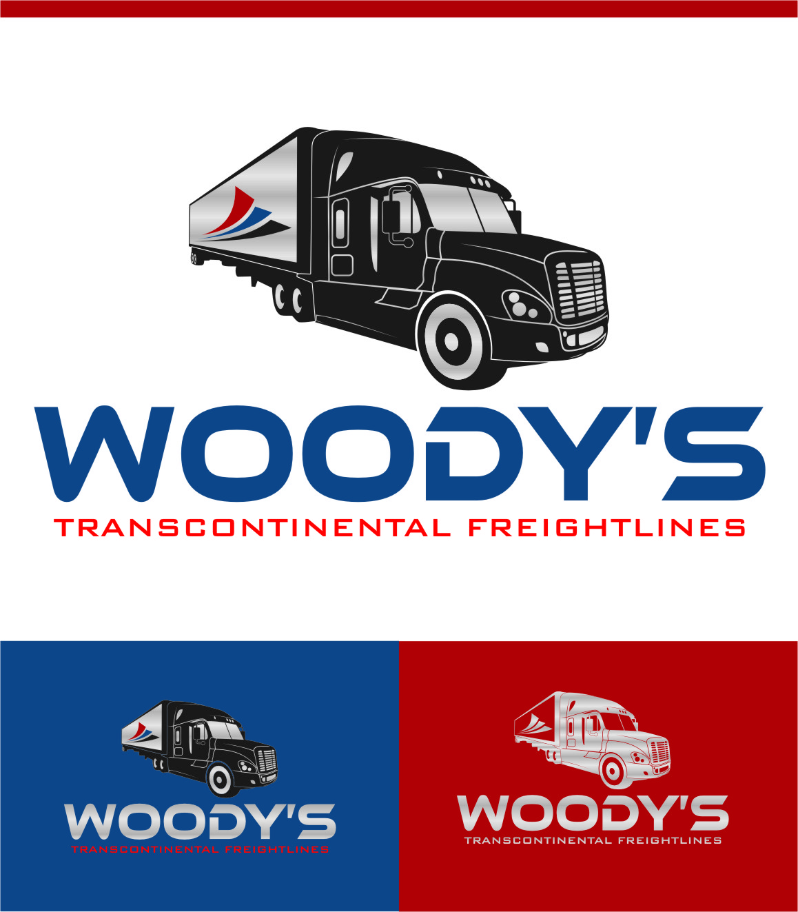Logo Design by Ngepet_art - Entry No. 86 in the Logo Design Contest Creative Logo Design for Woody's Transcontinental Freightlines.
