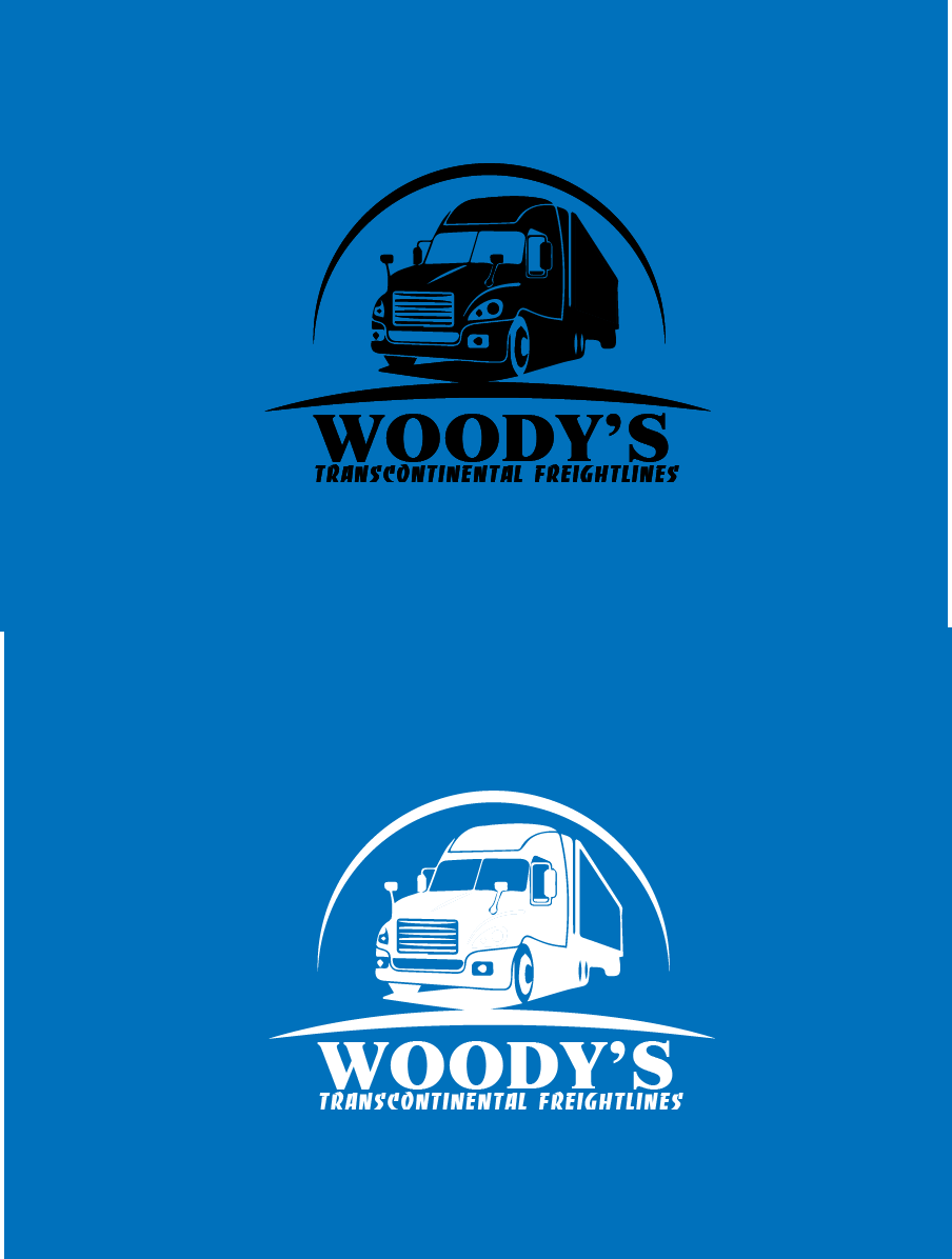Logo Design by brands_in - Entry No. 87 in the Logo Design Contest Creative Logo Design for Woody's Transcontinental Freightlines.