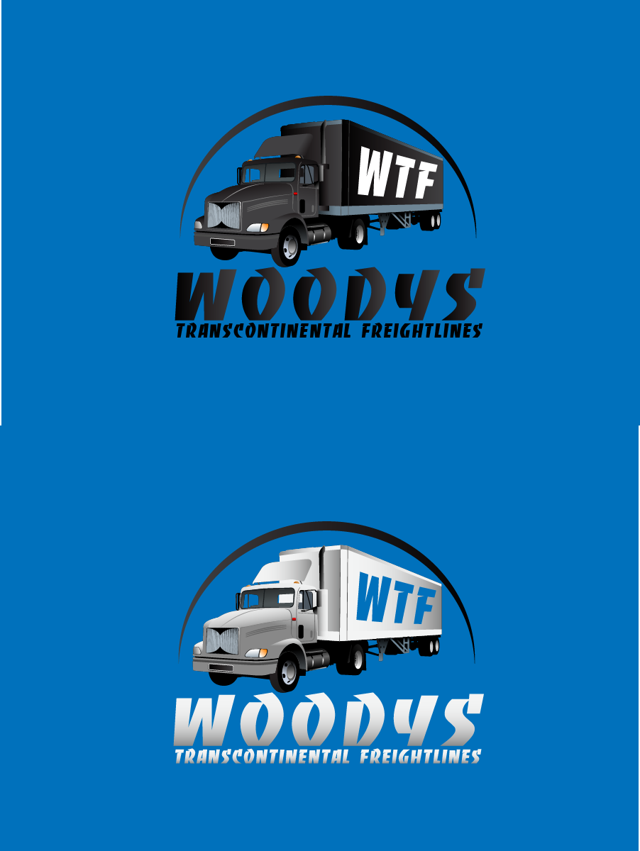 Logo Design by brands_in - Entry No. 88 in the Logo Design Contest Creative Logo Design for Woody's Transcontinental Freightlines.