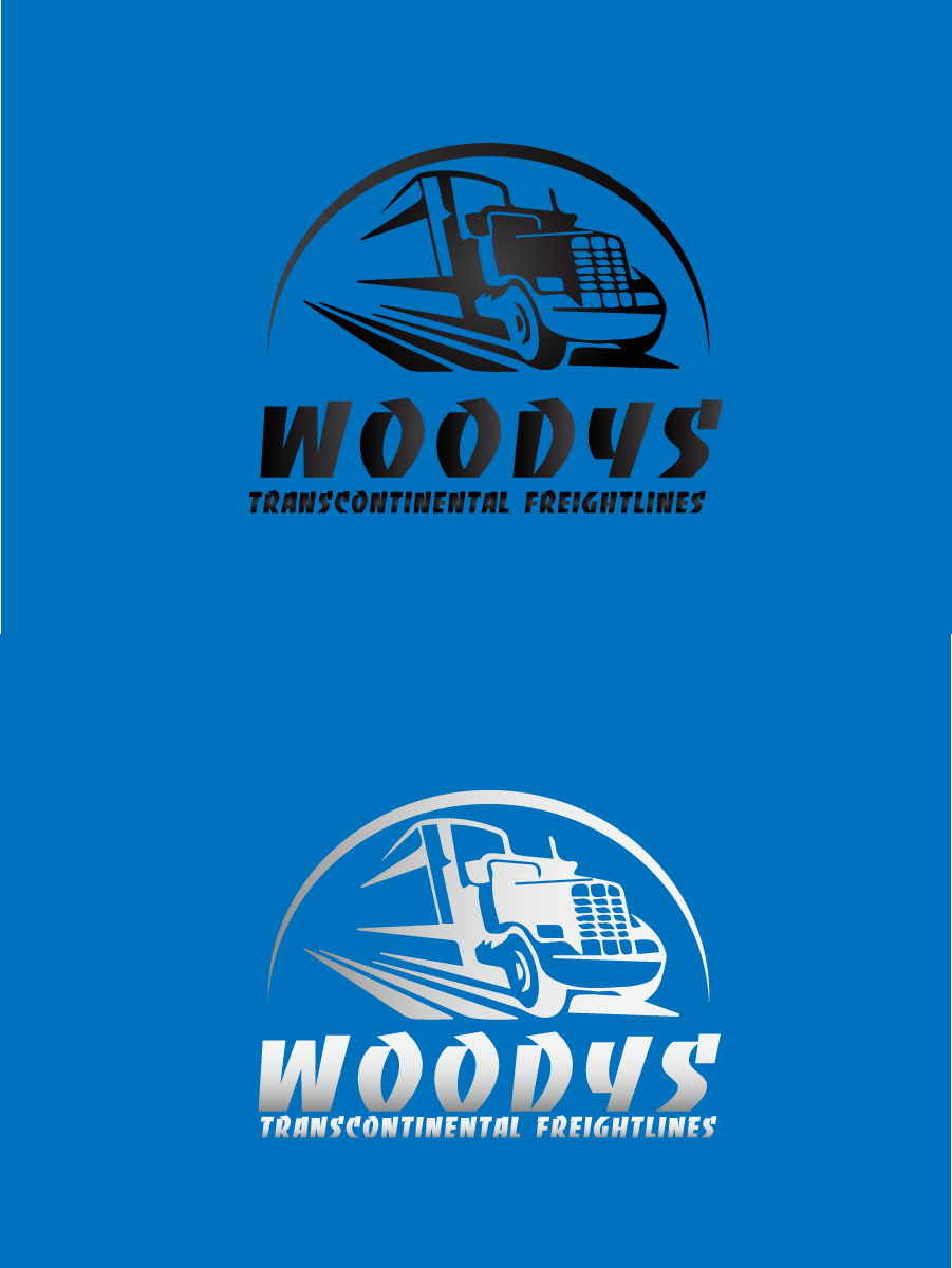 Logo Design by brands_in - Entry No. 90 in the Logo Design Contest Creative Logo Design for Woody's Transcontinental Freightlines.