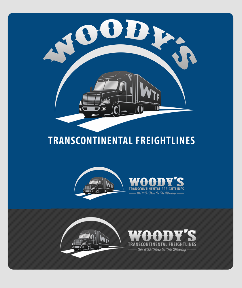 Logo Design by Private User - Entry No. 91 in the Logo Design Contest Creative Logo Design for Woody's Transcontinental Freightlines.