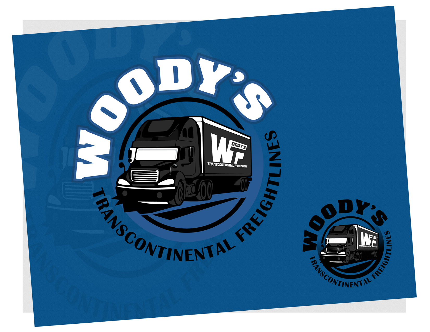 Logo Design by Private User - Entry No. 92 in the Logo Design Contest Creative Logo Design for Woody's Transcontinental Freightlines.