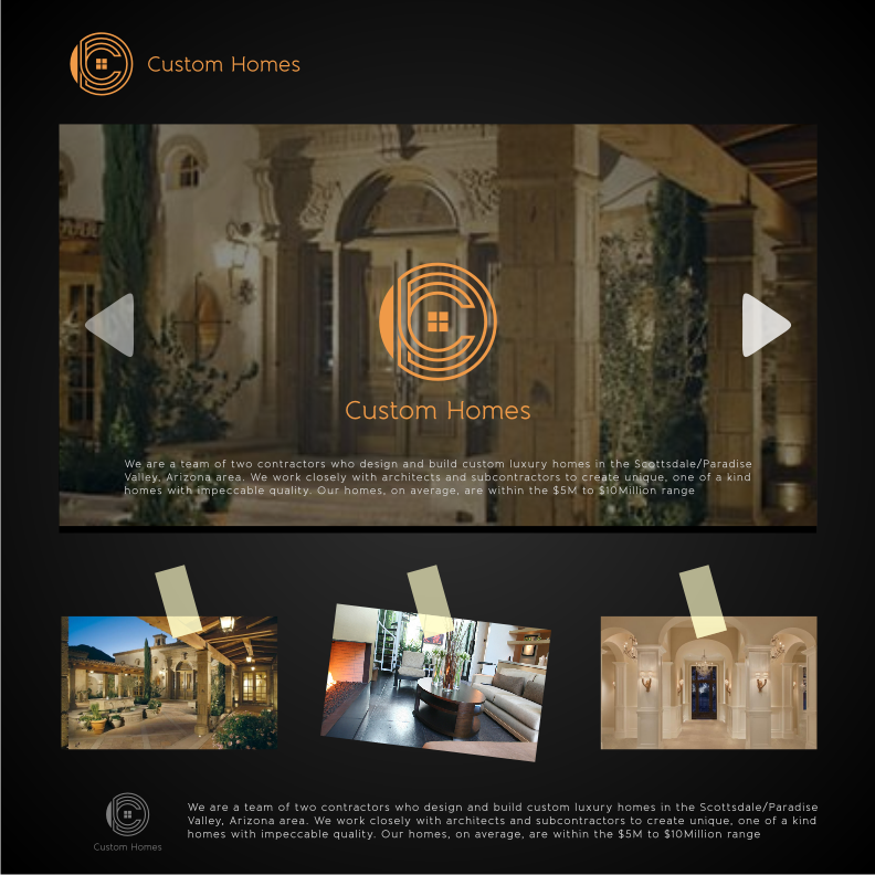 Logo Design by graphicleaf - Entry No. 56 in the Logo Design Contest Creative Logo Design for DC Custom Homes.