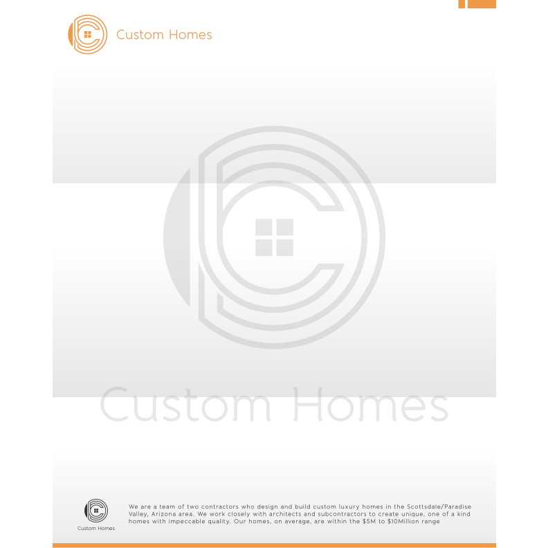 Logo Design by Muhammad Nasrul chasib - Entry No. 57 in the Logo Design Contest Creative Logo Design for DC Custom Homes.