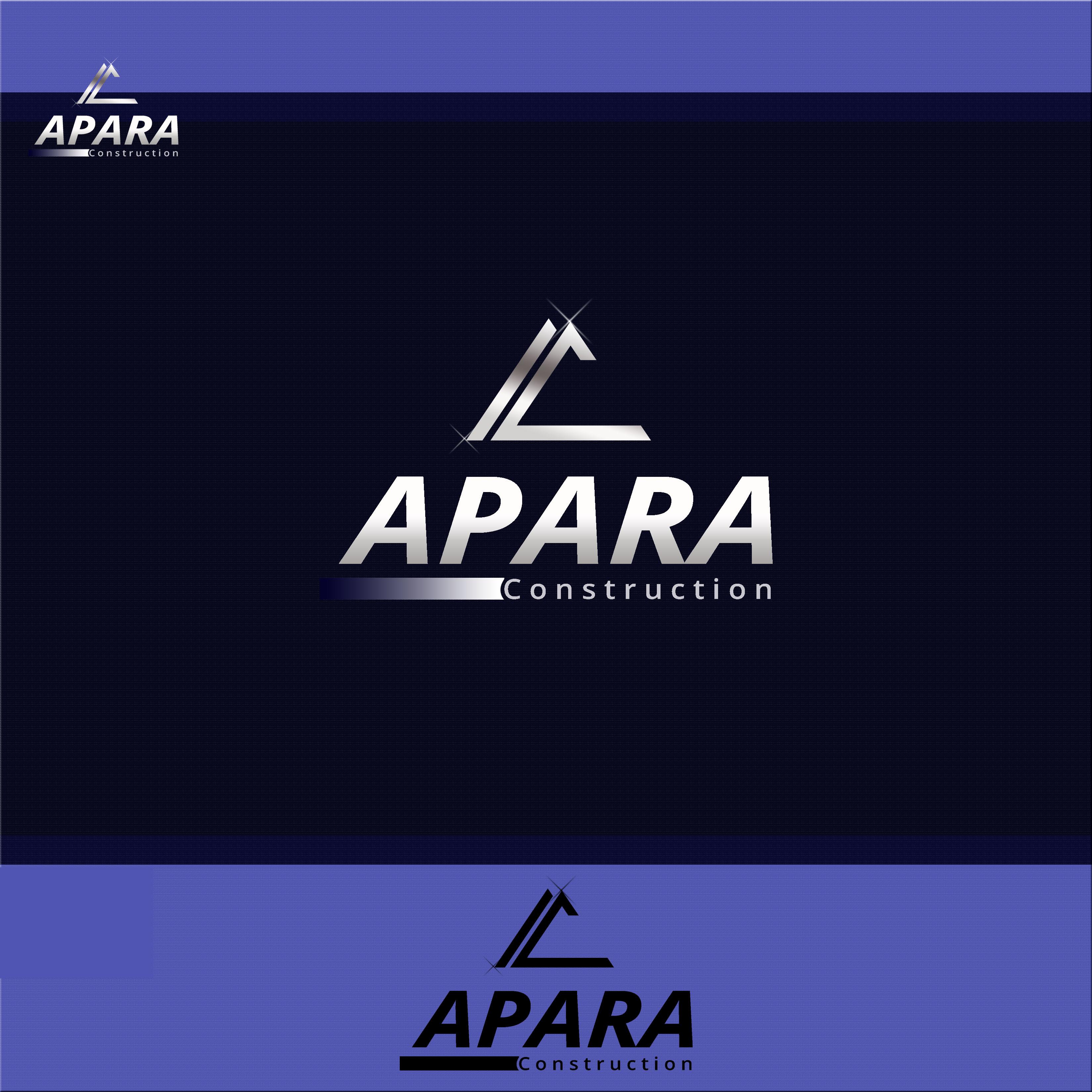 Logo Design by Allan Esclamado - Entry No. 164 in the Logo Design Contest Apara Construction Logo Design.