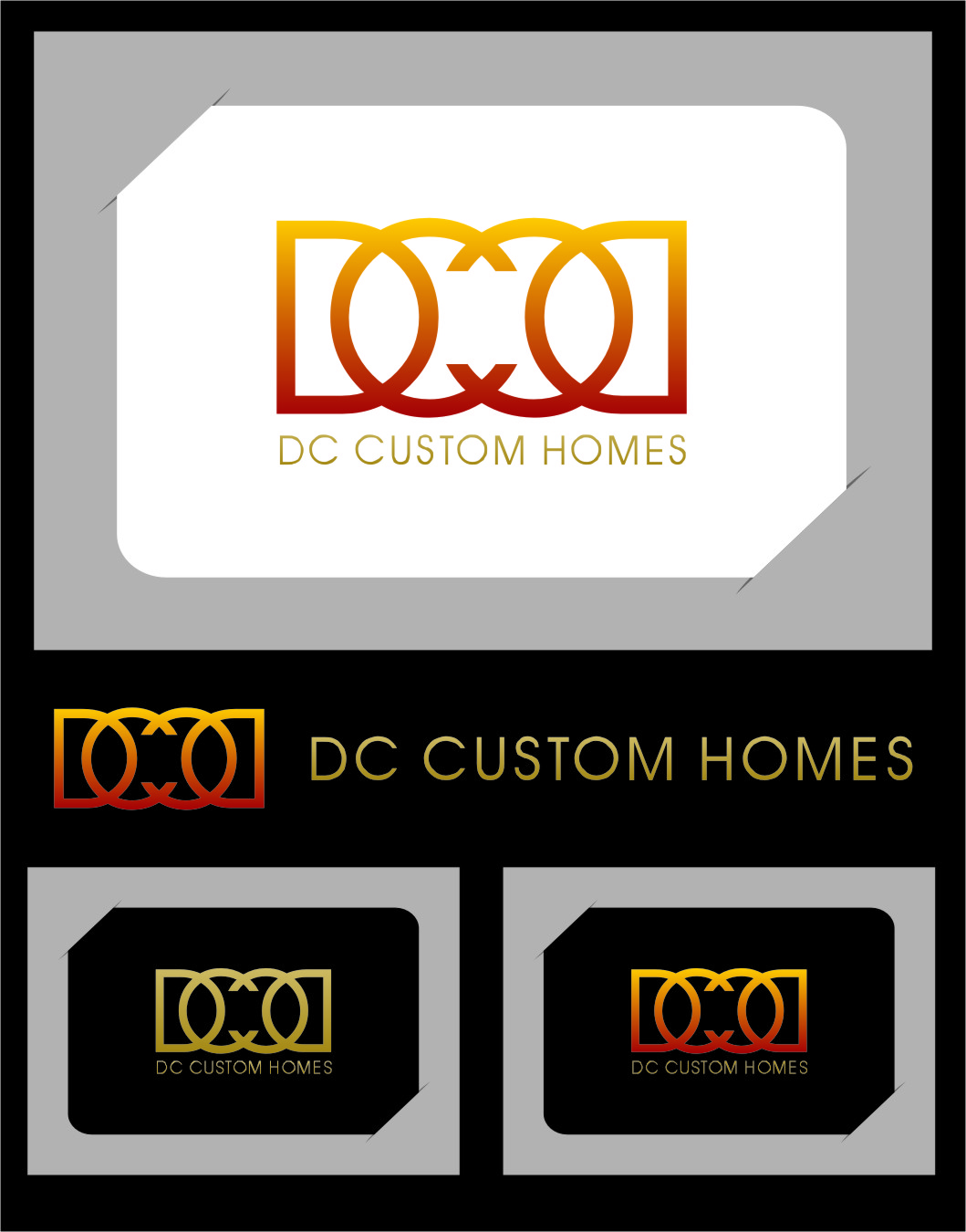 Logo Design by Ngepet_art - Entry No. 68 in the Logo Design Contest Creative Logo Design for DC Custom Homes.