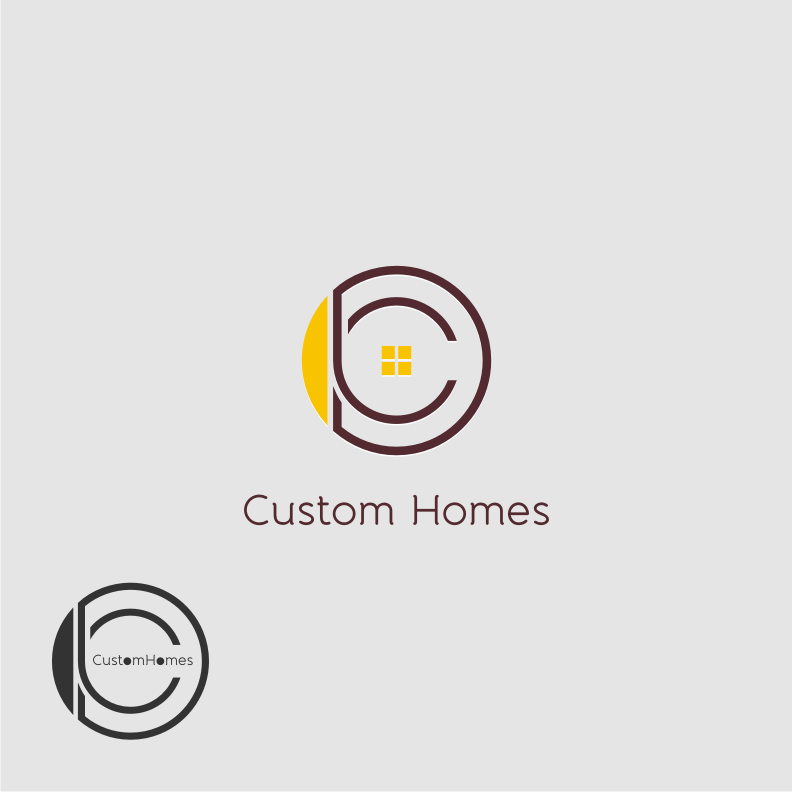 Logo Design by graphicleaf - Entry No. 76 in the Logo Design Contest Creative Logo Design for DC Custom Homes.