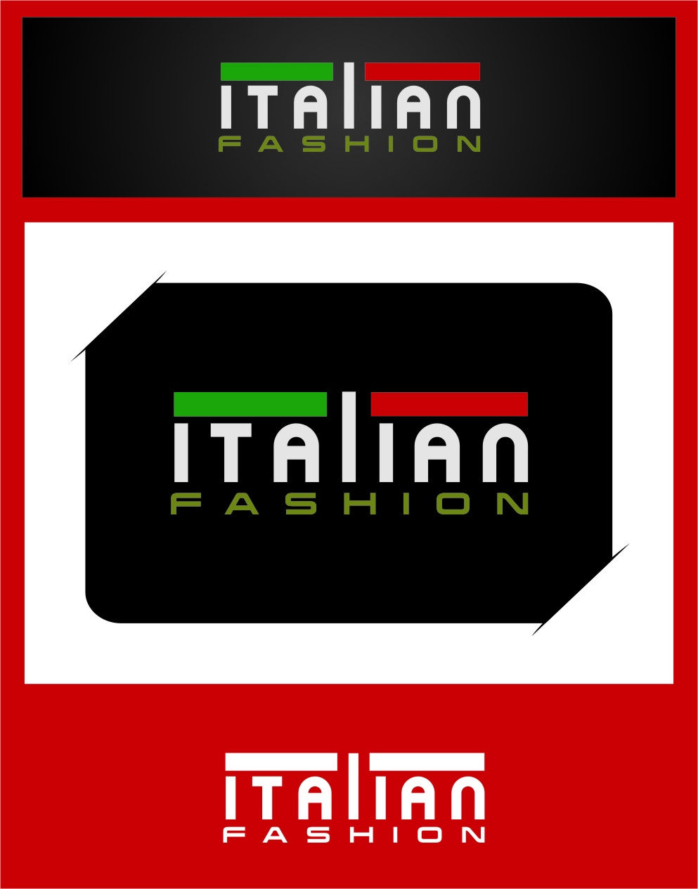 Logo Design by RoSyid Rono-Rene On Java - Entry No. 61 in the Logo Design Contest Logo for Web Page ItalianFashion.cz.