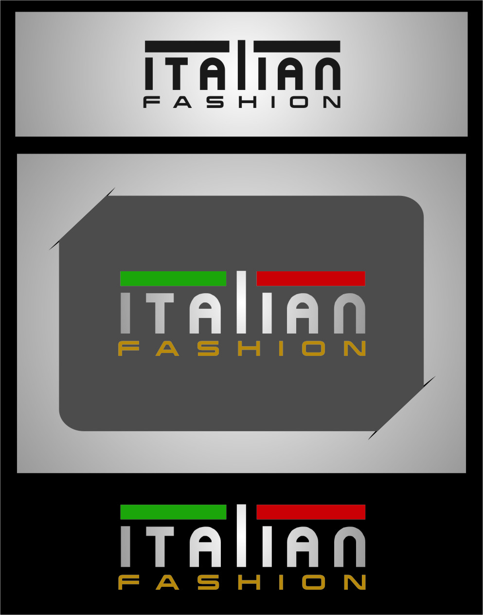 Logo Design by RasYa Muhammad Athaya - Entry No. 62 in the Logo Design Contest Logo for Web Page ItalianFashion.cz.