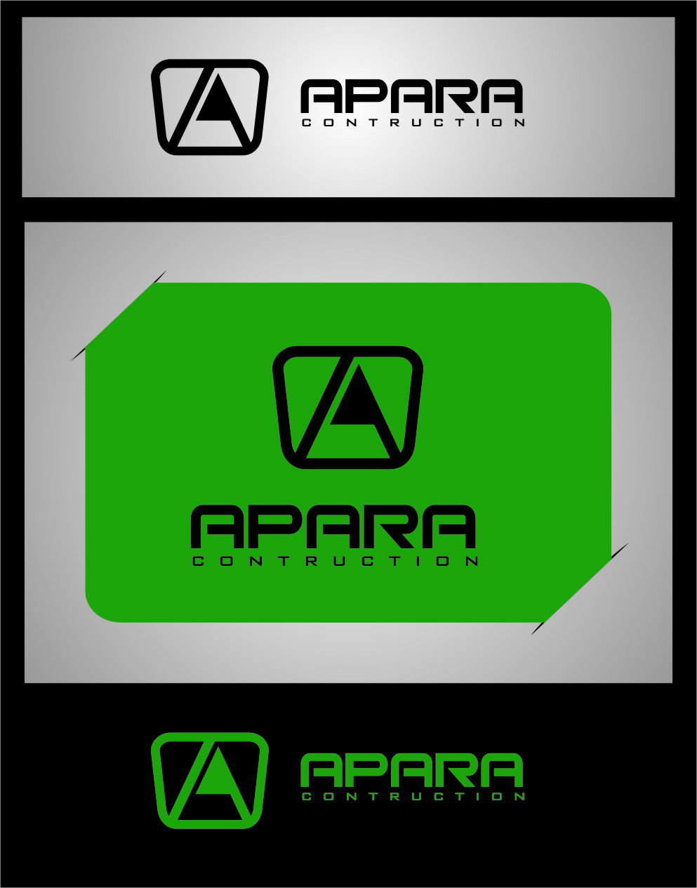 Logo Design by RasYa Muhammad Athaya - Entry No. 182 in the Logo Design Contest Apara Construction Logo Design.