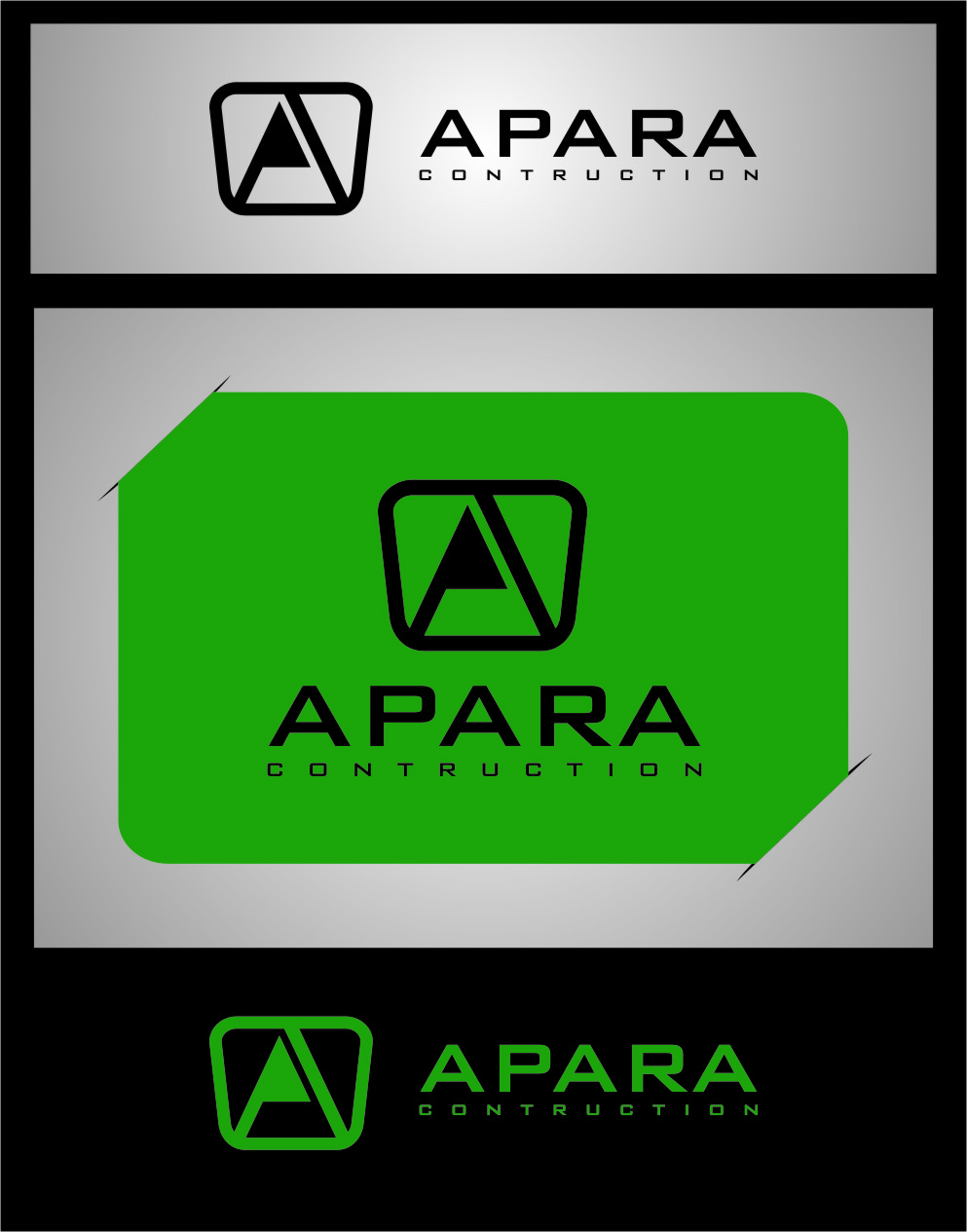 Logo Design by RasYa Muhammad Athaya - Entry No. 183 in the Logo Design Contest Apara Construction Logo Design.