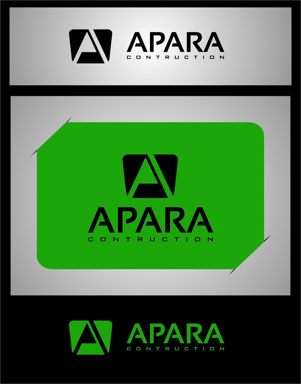 Logo Design by RasYa Muhammad Athaya - Entry No. 184 in the Logo Design Contest Apara Construction Logo Design.