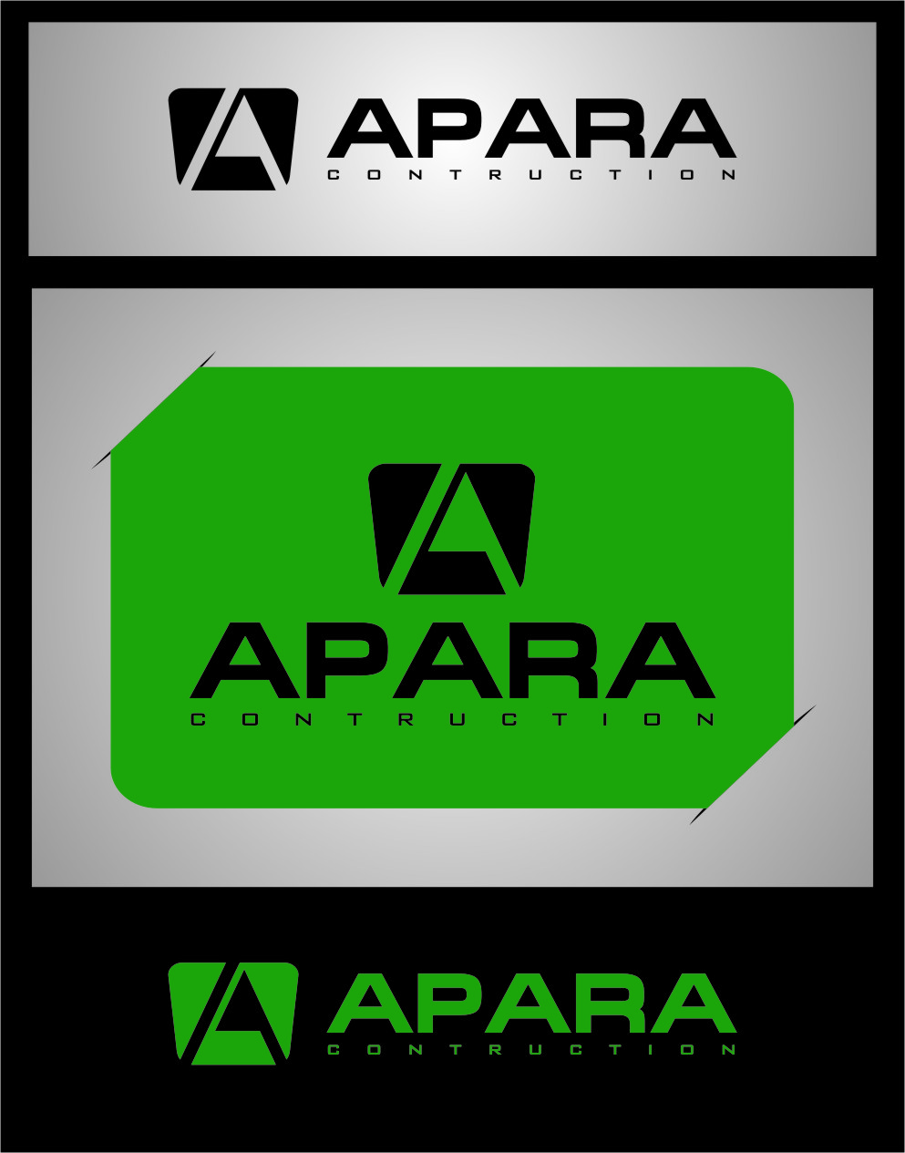 Logo Design by RasYa Muhammad Athaya - Entry No. 185 in the Logo Design Contest Apara Construction Logo Design.