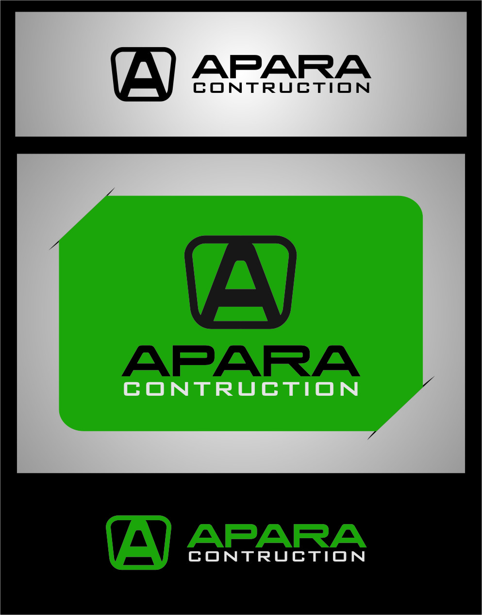 Logo Design by RasYa Muhammad Athaya - Entry No. 186 in the Logo Design Contest Apara Construction Logo Design.