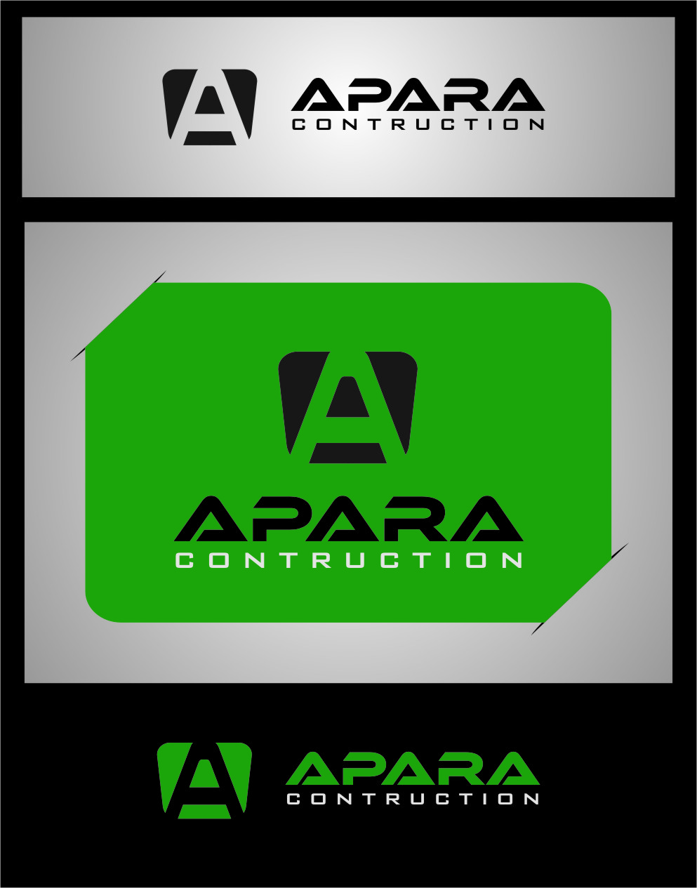 Logo Design by Ngepet_art - Entry No. 187 in the Logo Design Contest Apara Construction Logo Design.