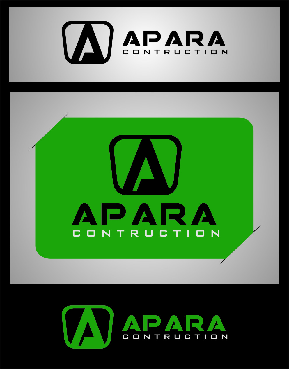 Logo Design by RasYa Muhammad Athaya - Entry No. 188 in the Logo Design Contest Apara Construction Logo Design.