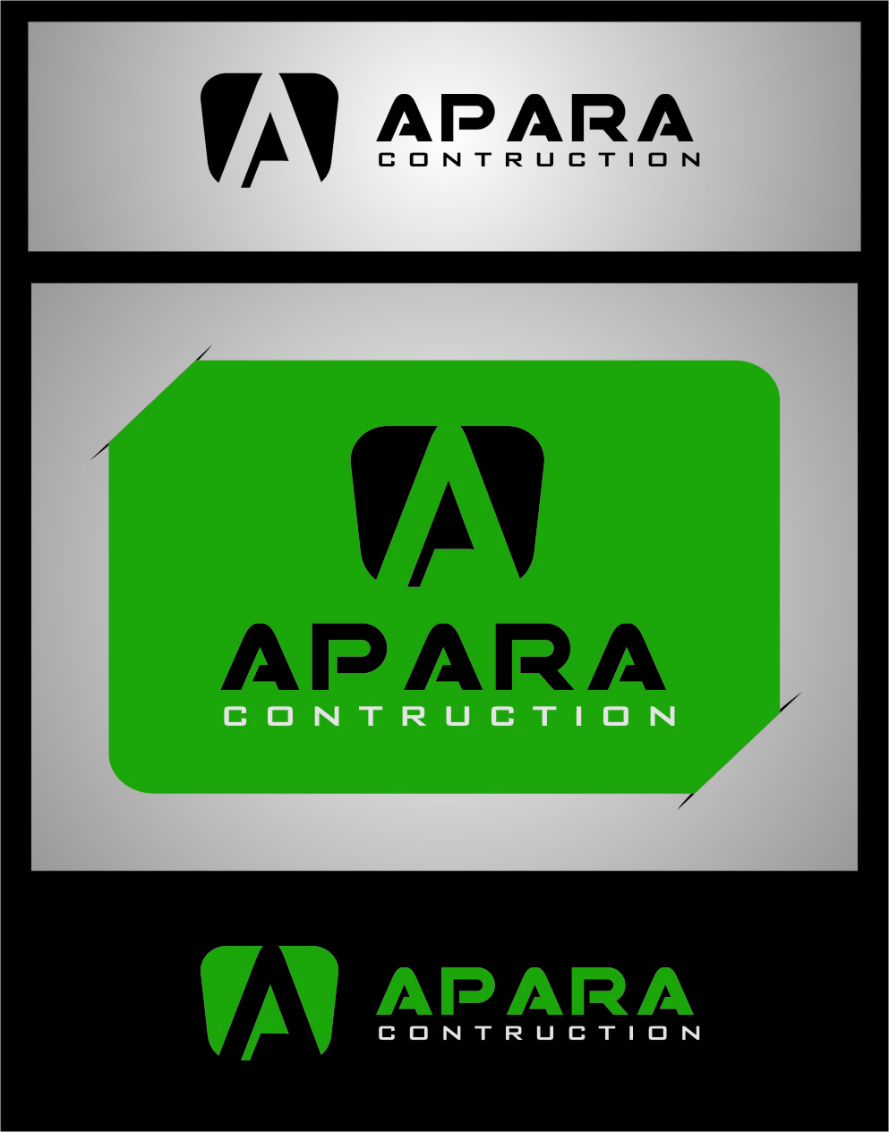 Logo Design by Ngepet_art - Entry No. 189 in the Logo Design Contest Apara Construction Logo Design.