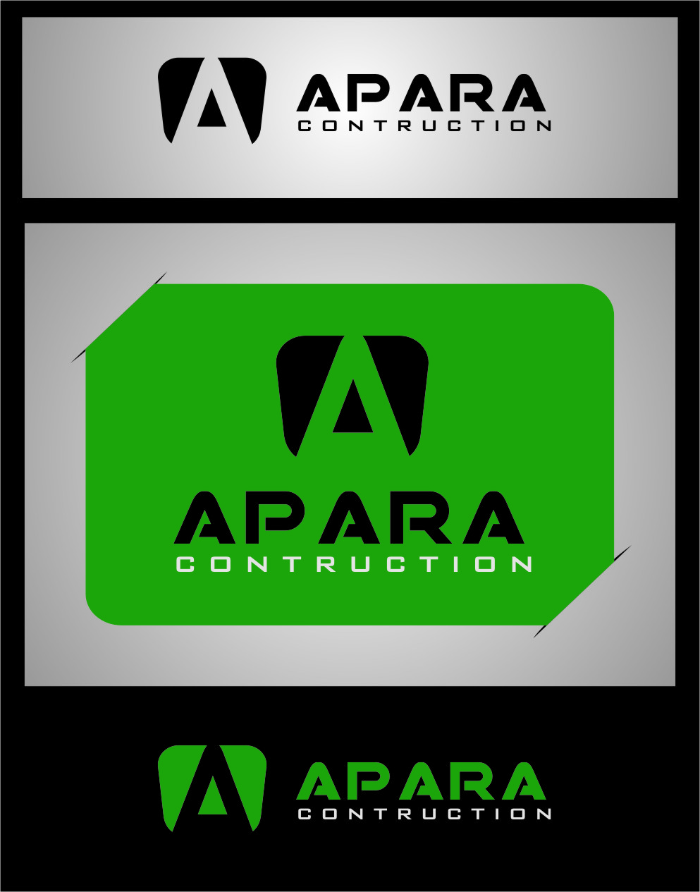 Logo Design by RoSyid Rono-Rene On Java - Entry No. 190 in the Logo Design Contest Apara Construction Logo Design.