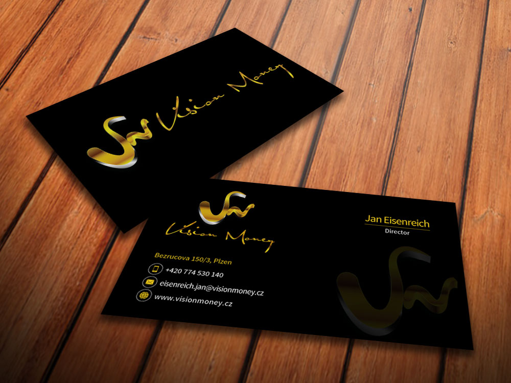 Business Card Design by mediaproductionart - Entry No. 32 in the Business Card Design Contest Captivating Business Card Design for VISION MONEY.