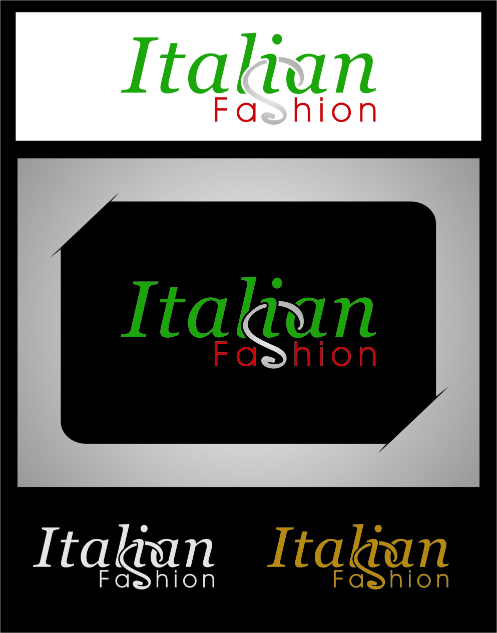 Logo Design by Ngepet_art - Entry No. 64 in the Logo Design Contest Logo for Web Page ItalianFashion.cz.