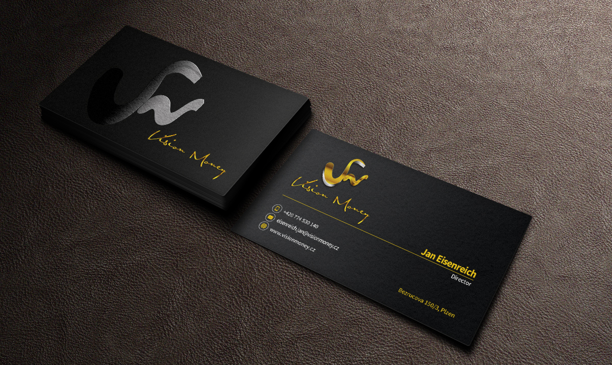 Business Card Design by mediaproductionart - Entry No. 41 in the Business Card Design Contest Captivating Business Card Design for VISION MONEY.