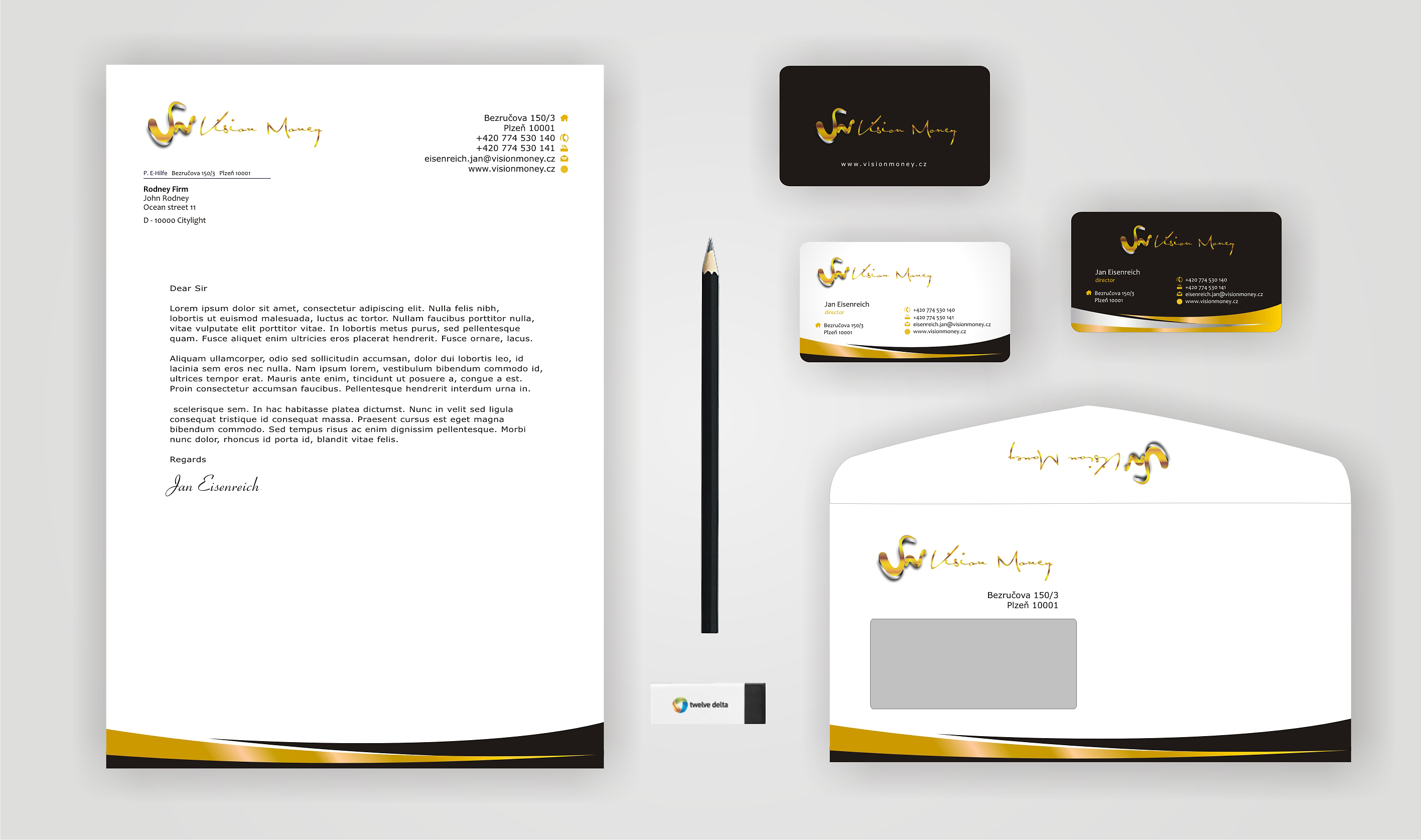 Business Card Design by Private User - Entry No. 42 in the Business Card Design Contest Captivating Business Card Design for VISION MONEY.