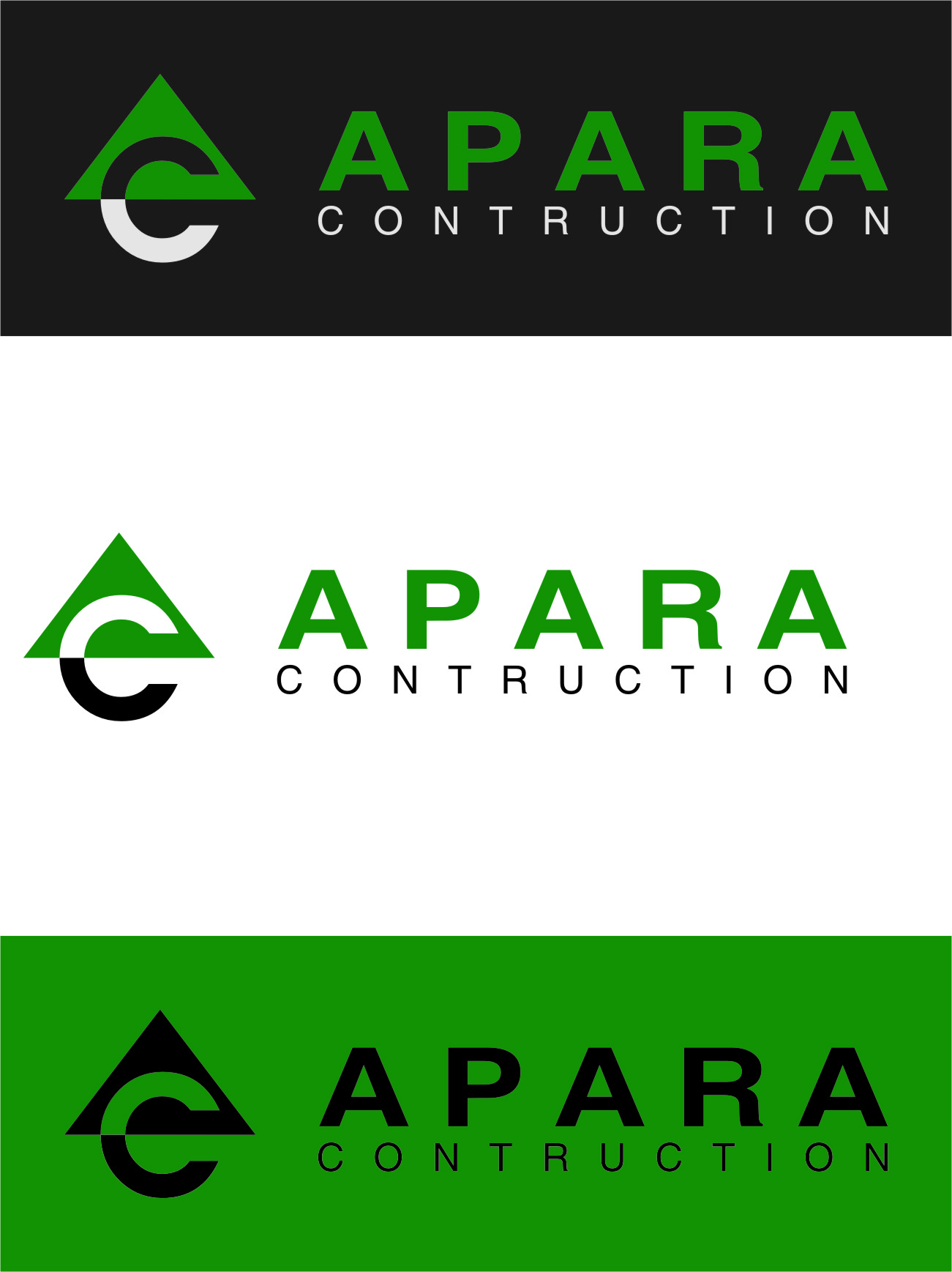 Logo Design by RasYa Muhammad Athaya - Entry No. 195 in the Logo Design Contest Apara Construction Logo Design.