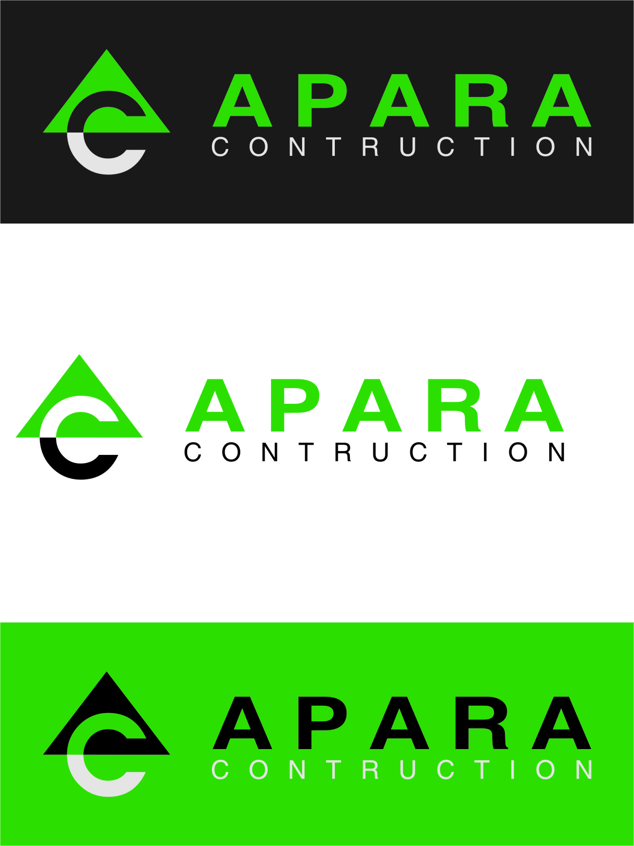 Logo Design by RasYa Muhammad Athaya - Entry No. 196 in the Logo Design Contest Apara Construction Logo Design.