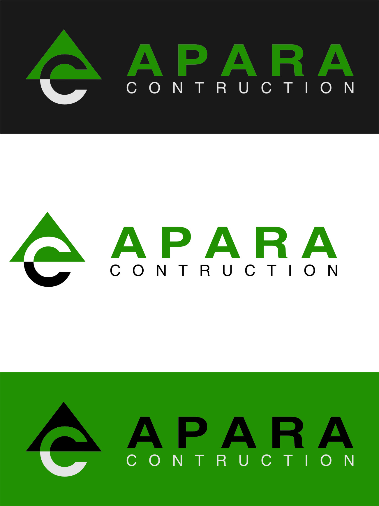 Logo Design by RasYa Muhammad Athaya - Entry No. 197 in the Logo Design Contest Apara Construction Logo Design.
