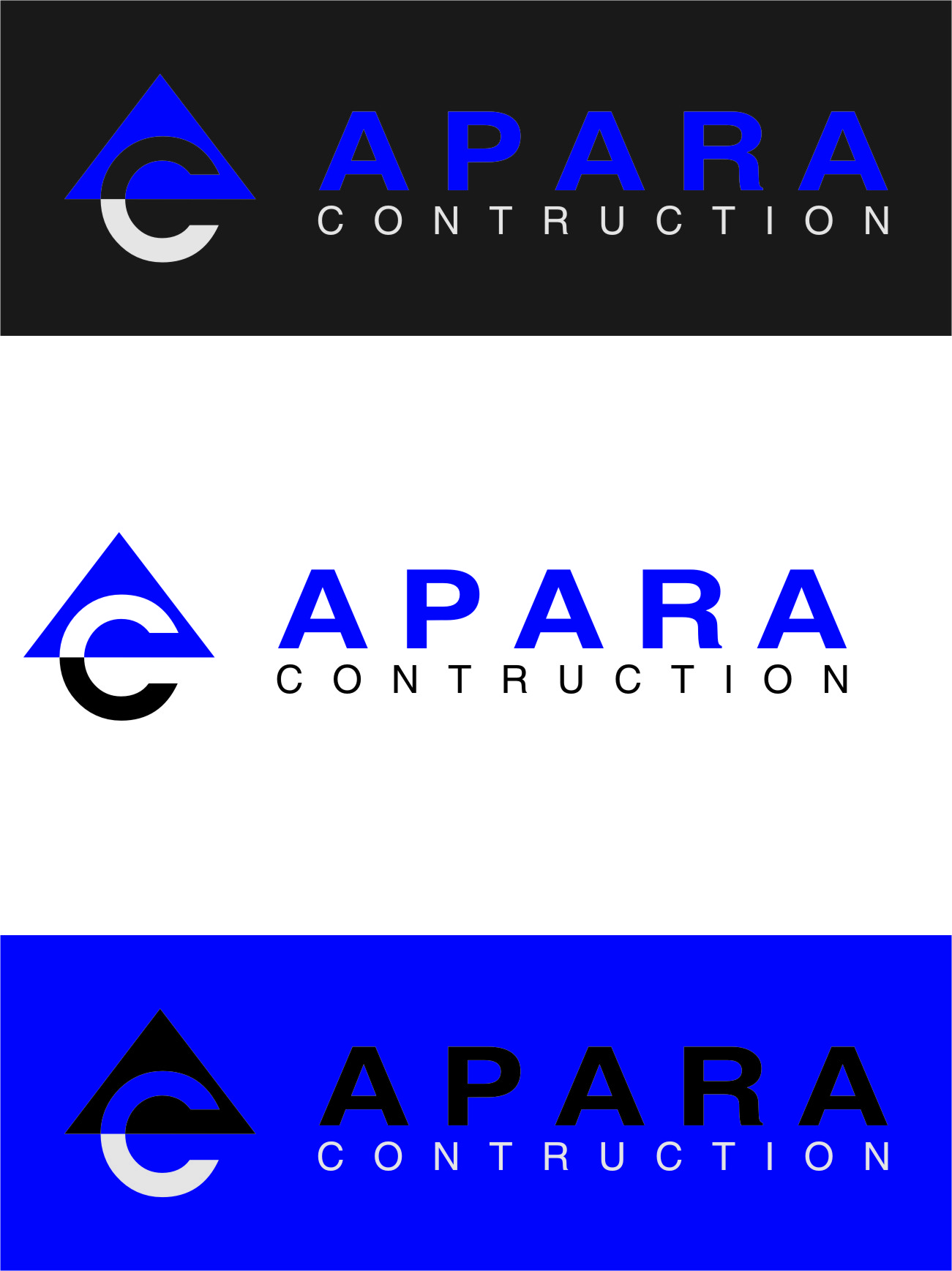 Logo Design by RasYa Muhammad Athaya - Entry No. 198 in the Logo Design Contest Apara Construction Logo Design.