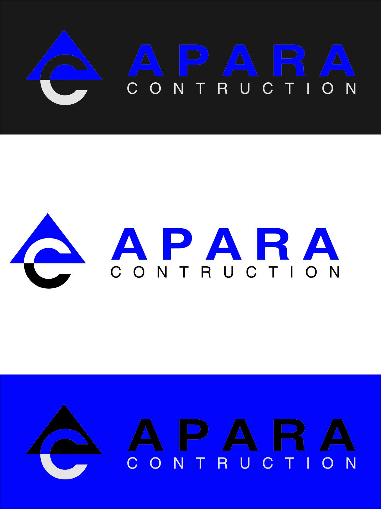 Logo Design by RasYa Muhammad Athaya - Entry No. 199 in the Logo Design Contest Apara Construction Logo Design.