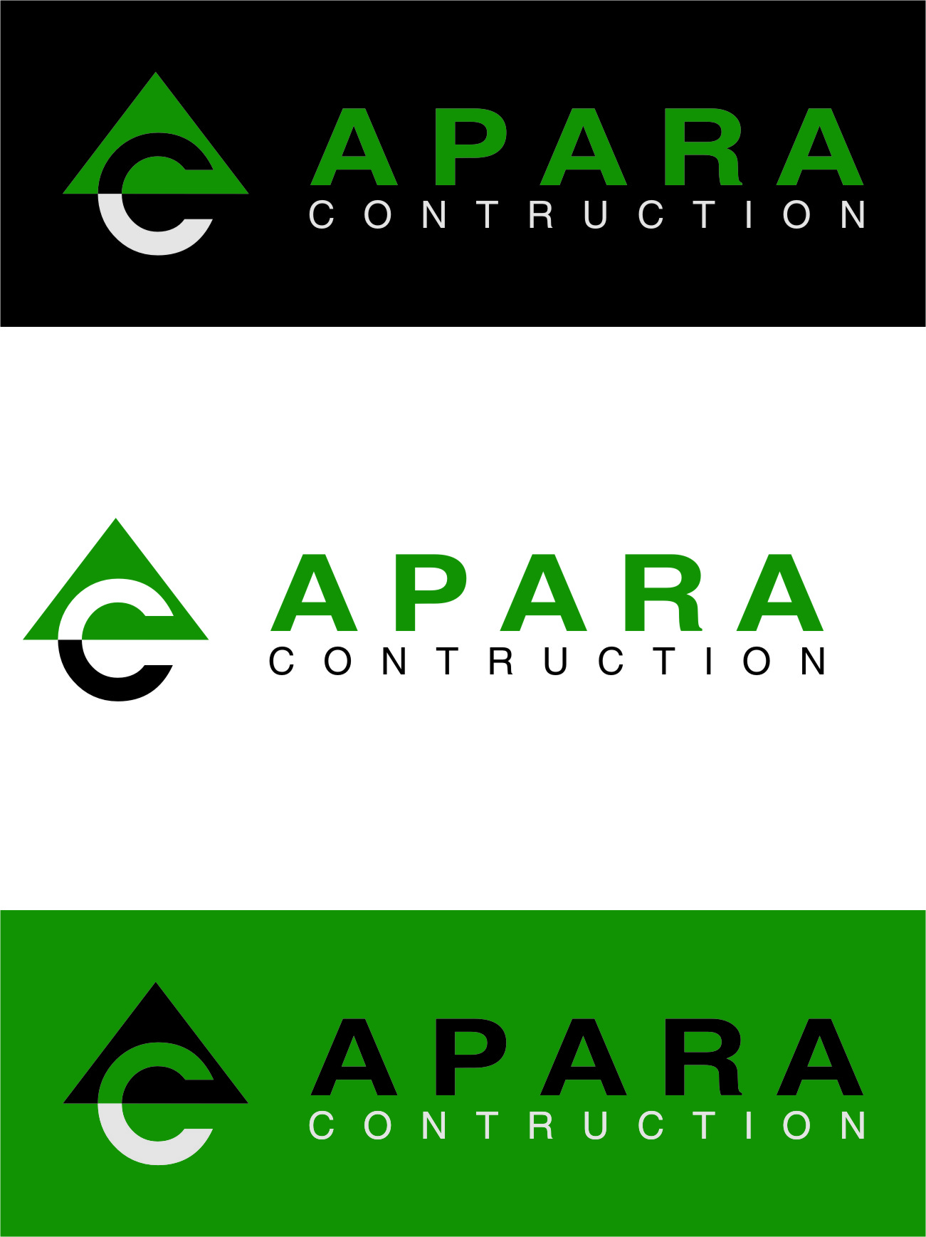 Logo Design by Ngepet_art - Entry No. 200 in the Logo Design Contest Apara Construction Logo Design.
