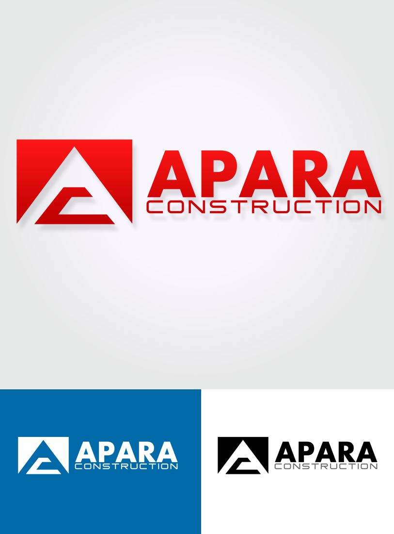 Logo Design by Robert Turla - Entry No. 203 in the Logo Design Contest Apara Construction Logo Design.