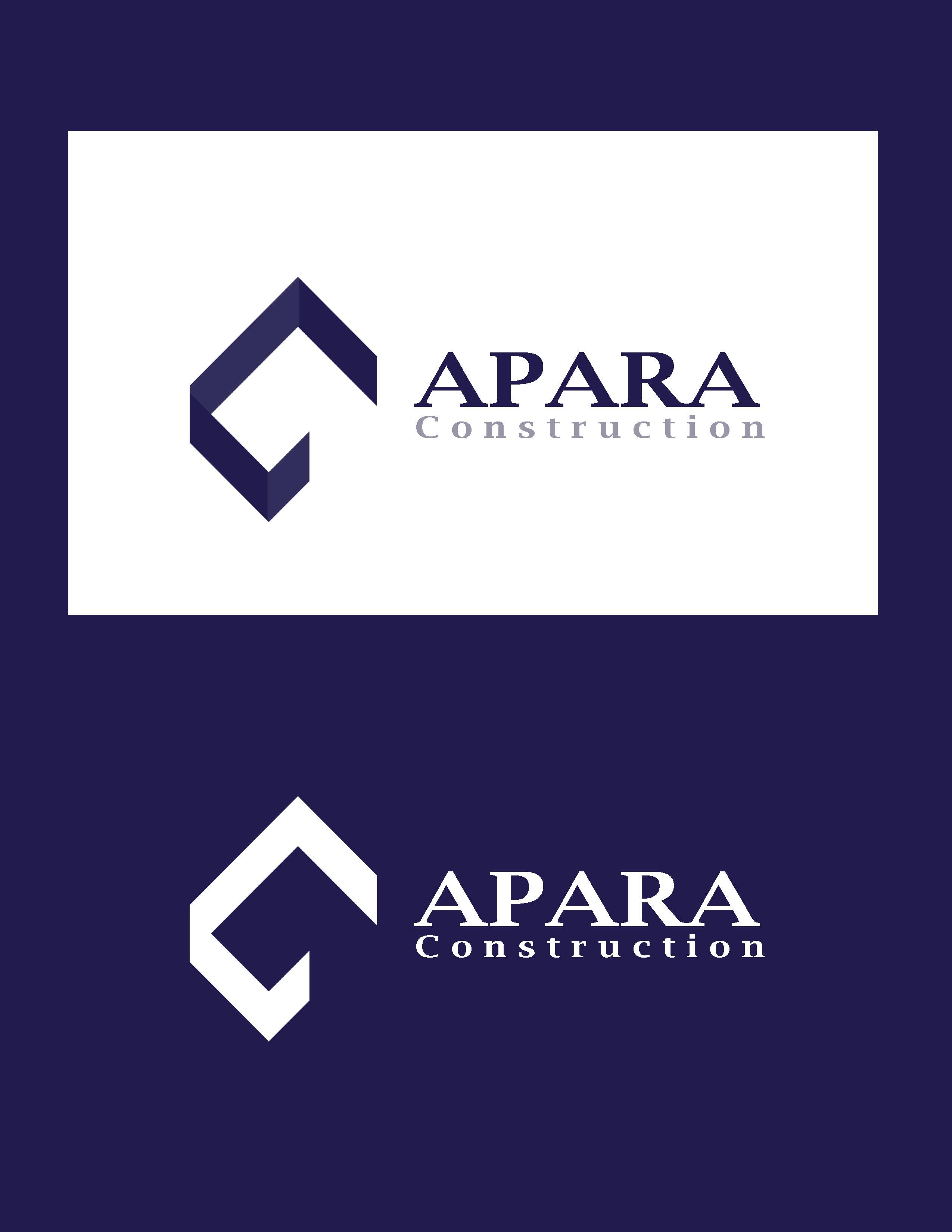 Logo Design by Allan Esclamado - Entry No. 204 in the Logo Design Contest Apara Construction Logo Design.