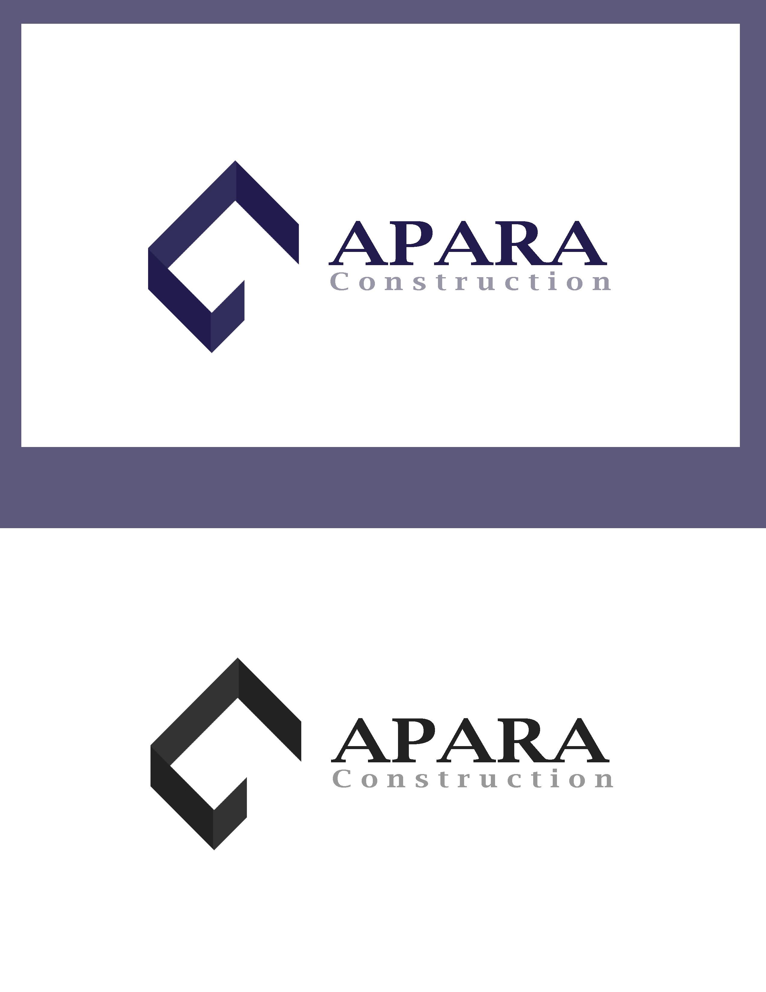 Logo Design by Allan Esclamado - Entry No. 205 in the Logo Design Contest Apara Construction Logo Design.