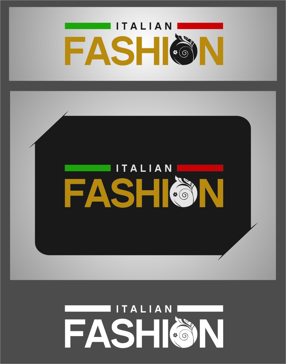 Logo Design by RoSyid Rono-Rene On Java - Entry No. 69 in the Logo Design Contest Logo for Web Page ItalianFashion.cz.