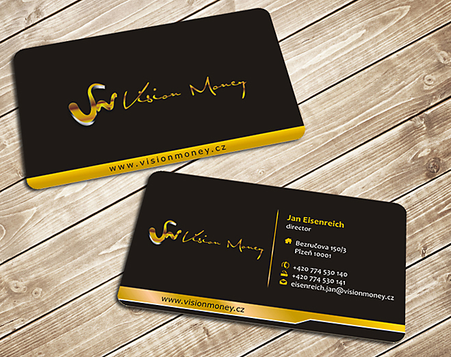 Business Card Design by Private User - Entry No. 43 in the Business Card Design Contest Captivating Business Card Design for VISION MONEY.