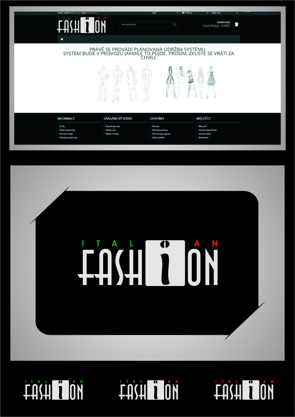 Logo Design by RasYa Muhammad Athaya - Entry No. 76 in the Logo Design Contest Logo for Web Page ItalianFashion.cz.