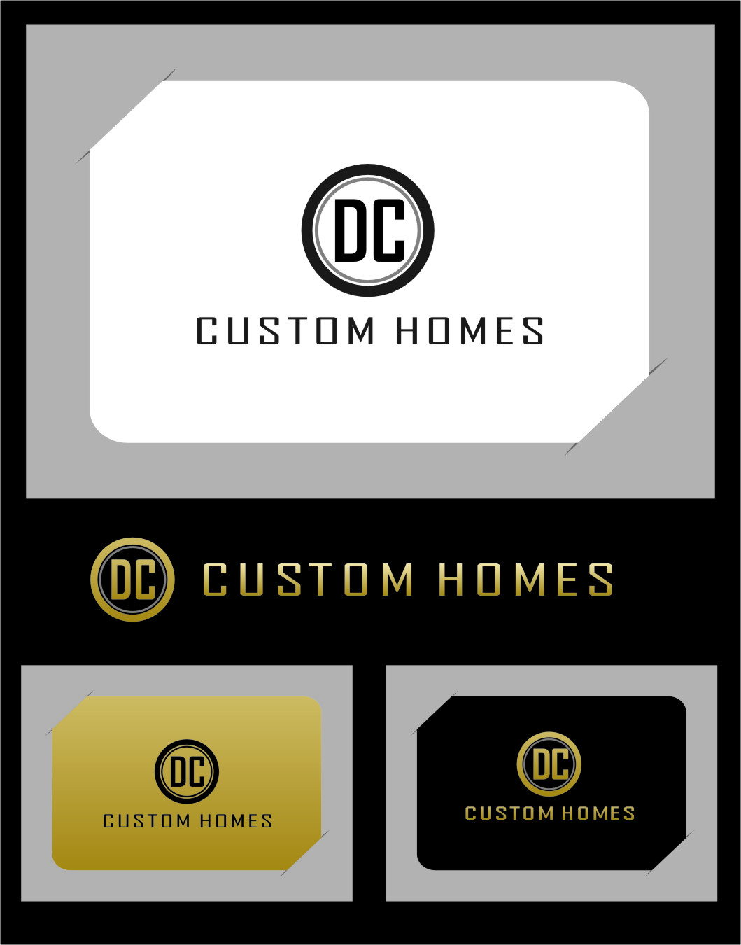 Logo Design by RasYa Muhammad Athaya - Entry No. 121 in the Logo Design Contest Creative Logo Design for DC Custom Homes.