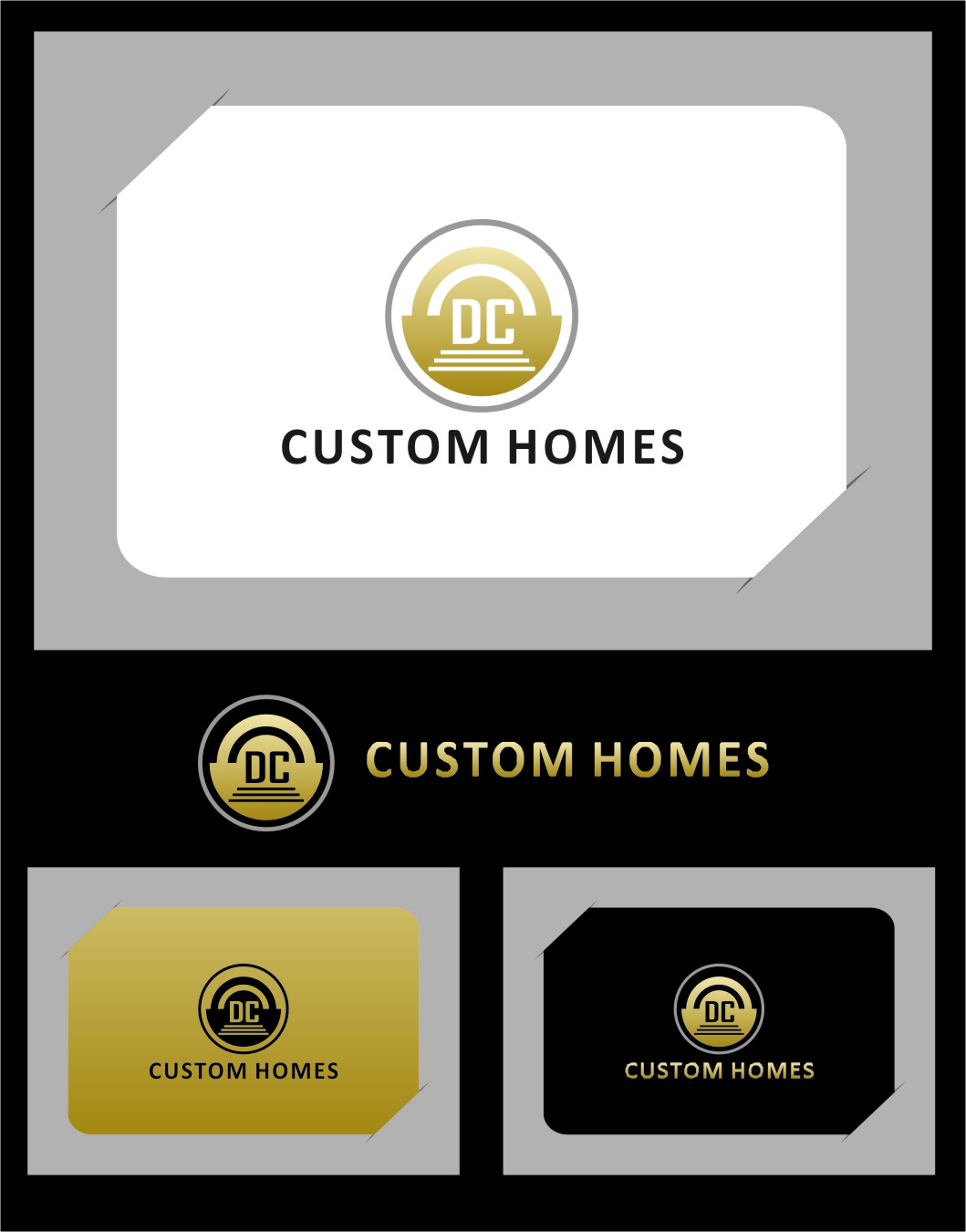 Logo Design by RasYa Muhammad Athaya - Entry No. 122 in the Logo Design Contest Creative Logo Design for DC Custom Homes.
