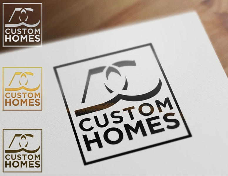 Logo Design by Juan_Kata - Entry No. 123 in the Logo Design Contest Creative Logo Design for DC Custom Homes.
