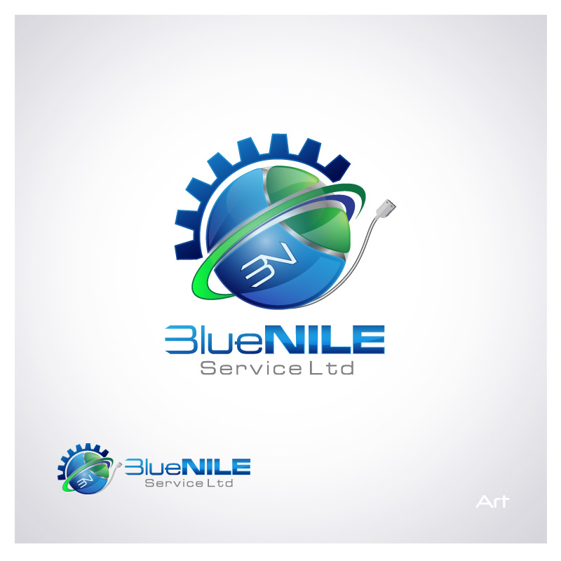 Logo Design by Puspita Wahyuni - Entry No. 3 in the Logo Design Contest Imaginative Logo Design for Blue Nile Service Ltd.