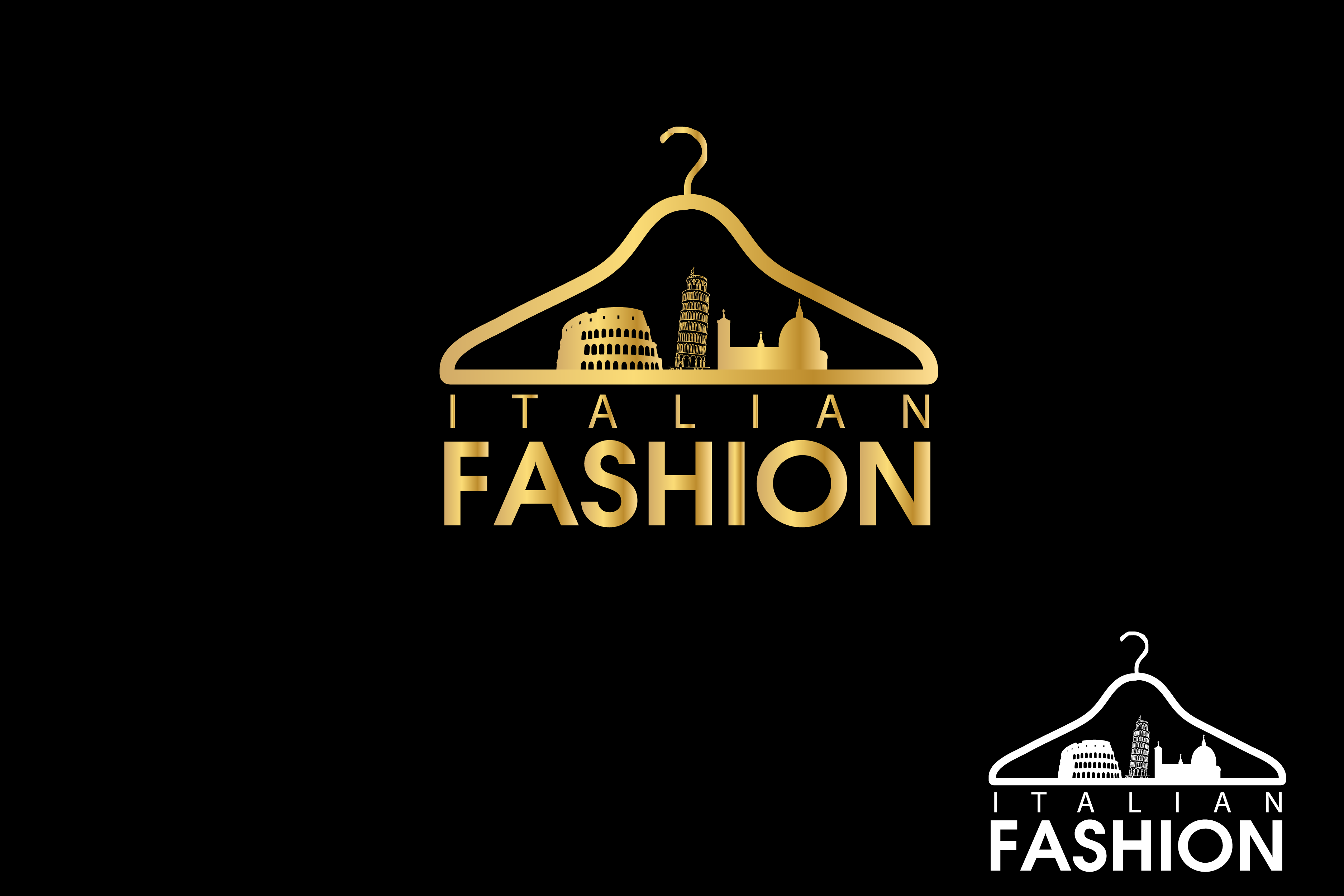 Logo Design by Private User - Entry No. 82 in the Logo Design Contest Logo for Web Page ItalianFashion.cz.