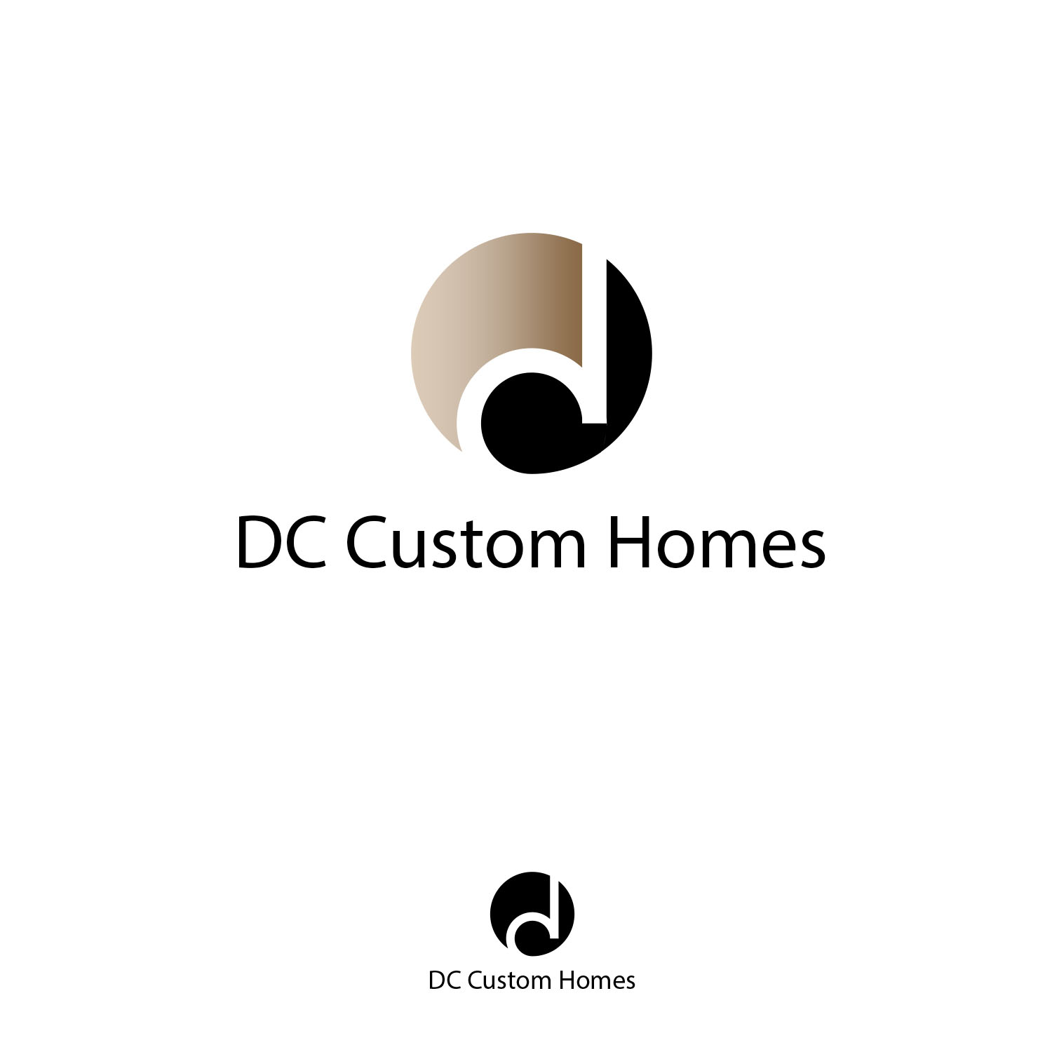 Logo Design by Private User - Entry No. 141 in the Logo Design Contest Creative Logo Design for DC Custom Homes.