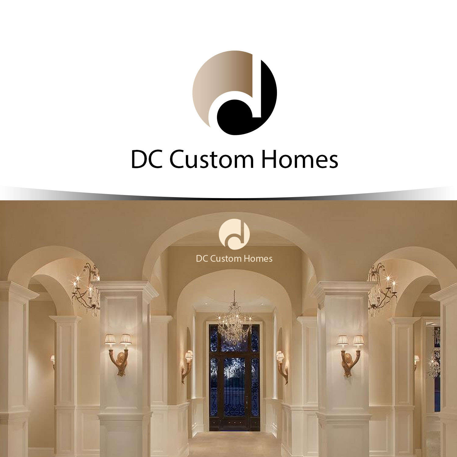 Logo Design by Private User - Entry No. 142 in the Logo Design Contest Creative Logo Design for DC Custom Homes.