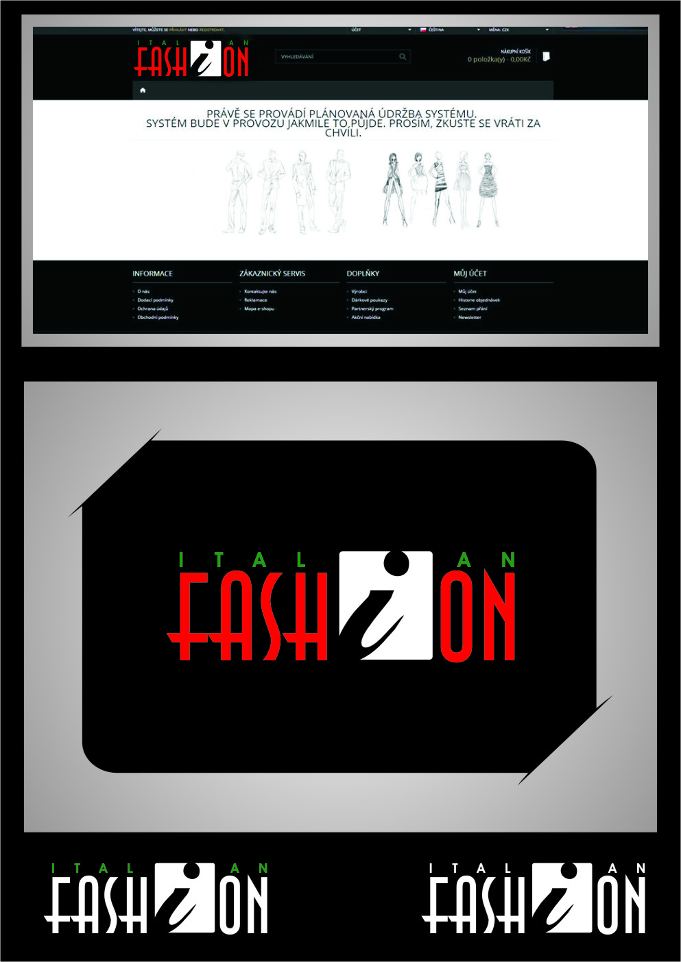 Logo Design by RasYa Muhammad Athaya - Entry No. 84 in the Logo Design Contest Logo for Web Page ItalianFashion.cz.